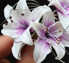 Tutorial.Polymer clay flowers LILY. PDF format. by flowerdeco