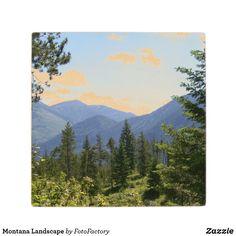 Montana Inspiring Landscape Wood Coaster