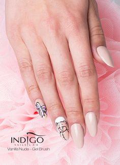 by Paulina Walaszczyk Indigo Educator :) Follow us on Pinterest. Find more inspiration at www.indigo-nails.com #nailart #nails #indigo #nude #icon #teddybear