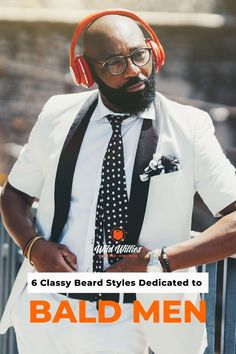 The full beard is a great place to funnel the time and energy that you used to use grooming the hair on your head. The only downside is that this is one of the more time-intensive beards to grow and maintain. Read on to learn 6 great #beardstyles Great Beards, Awesome Beards, Beard Styles For Men, Hair And Beard Styles, Bald Head With Beard, Badass Beard, Best Beard Oil, Types Of Beards, Natural Beard Oil