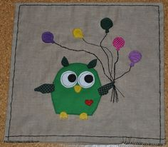 funny owl handmade pillow case
