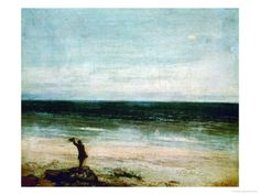Seaside at Palavas, 1854 Giclee Print by Gustave Courbet at Art.com