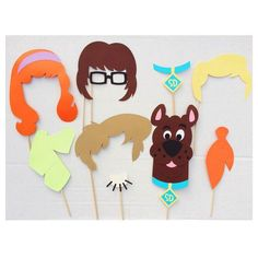 Cartoon Photo Booth Props Dog Birthday Party by LetsGetDecorative