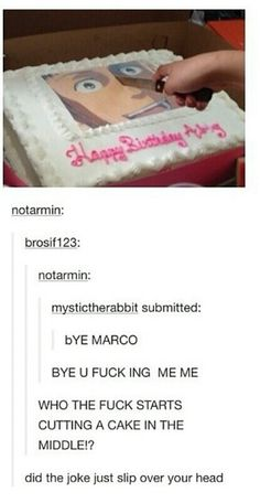 LoL That would be such a salty-ass cake... All the tears from everyone eating it and such! XD