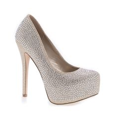 Add some class to your outfit with these sparkling shimmering platform stiletto pumps, featuring a pointed toe, s glitter mesh material covering the entire shoe, studded round rhinestones, a cushioned