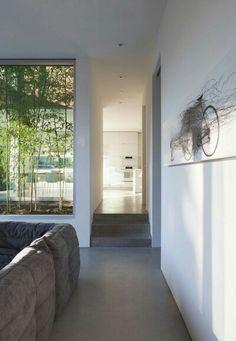 Indoor garden enclosed in glass
