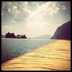 #TheFloatingPiers #Christo #MonteIsola #LagoIseo #Sulzano #Lombardia #Italy #lake #beautiful #landscape #installation #art #details