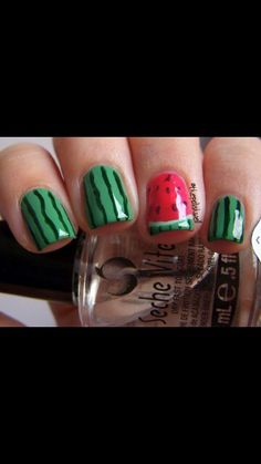 Cute for summer! You can also reverse it and do all pink with one green