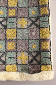 marisa-ramirez:  mina perhonen Creative Embroidery, Embroidery Art, Cross Stitch Embroidery, Embroidery Patterns, Textile Patterns, Textile Art, Stitch Witchery, Fabric Embellishment, Textiles Techniques