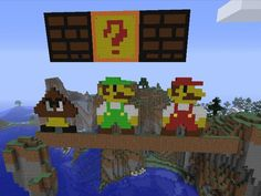 My son's Mario Minecraft creation. What do you think, @ThinkGeek ?