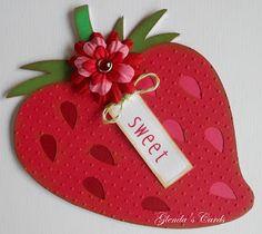 Cricut Strawberry Card. Country Life Cartridge.   *