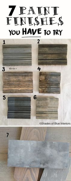 7 Paint Finishes You HAVE to Try- how to to achieve these weathered, gray finishes using 3 basic techniques. - 7 Paint Finishes You Have to Try + Haven Recap - Shades of Blue Interiors Furniture Projects, Furniture Makeover, Diy Projects, Wood Furniture, Furniture Stores, Paint Techniques Furniture, Rustic Painted Furniture, Stain Techniques, Kitchen Furniture
