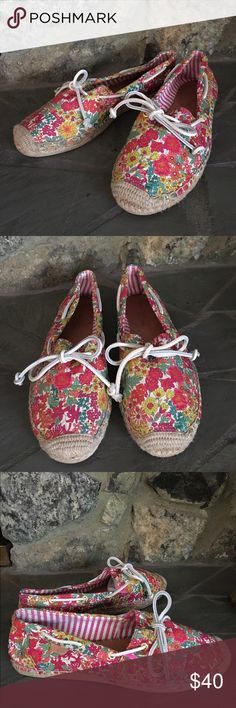 Sperry Top Sider Slip On Flat Shoes Sperry Top Sider Katama Liberty Women's Slip On Flat Shoes. Size 9M.  Multicolor Floral Fabric Upper. Embroidered Sperry Logo on Back of Shoe.  Adjustable Rawhide Laces for Better Fit. Lightly Cushioned Sole. Sperry Top-Sider Shoes Flats & Loafers