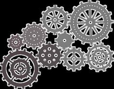 Cheery Lynn Steampunk Gears Wheel Cog Cogwhee Masculinel Set of 9 B340 Die | eBay