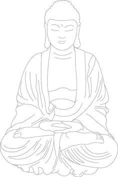 Buddha lineart by SarahMame Buddha Artwork, Art Buddha, Buddha Drawing, Buddha Kunst, Buddha Face, Buddha Painting, Buddha Tattoo Design, Buddha Tattoos, Outline Drawings