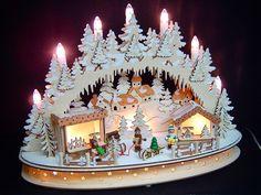 3D LED Lichterbogen Schwibbogen Weihnachtsmarkt 4 Winterkinder 42 cm 10215   eBay