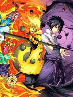 Naruto e Sasuke Naruto Vs Sasuke, Naruto Uzumaki Shippuden, Anime Naruto, Fan Art Naruto, Naruto And Sasuke Wallpaper, Wallpaper Naruto Shippuden, Gaara, Itachi Uchiha, Sasunaru