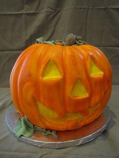 Jack-O-Lantern Halloween Cake   By Curtis-C-Cakes