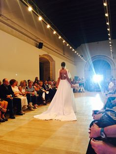 Supportive Red Cross Fashion Show in Granada. Claudina Mata wedding dresses fashion show