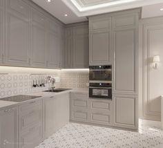 classic home decor Kitchen Classic White Layout Ideas Kitchen Room Design, Kitchen Cabinet Design, Modern Kitchen Design, Home Decor Kitchen, Interior Design Kitchen, New Kitchen, Kitchen Cabinets, Kitchen Ideas, Interior Livingroom