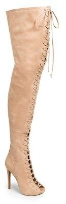 Zigi girl 'Piarry' Lace-Up Thigh-High Boot (Narrow Calf) on shopstyle.com