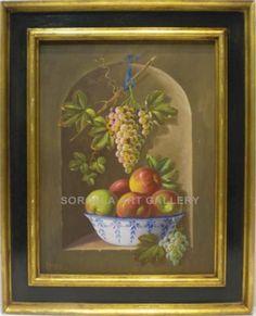Rafael Bernois: Still life.  Medium: Oil on canvas Measurements (cm): 79x64 Canvas measurements (cm): 61x46 Pretty still life signed by Bernois, of excellent craftsmanship, classic lines and good interpretation. $950