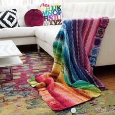 Felted Button - Colorful Crochet Patterns: Every Bit a Blanket {Free Pattern}