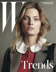 Constance Jablonski by Christian MacDonald for W Trends Supplement Cover September 2014 - simple and clean