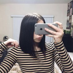 Black Angled Haircut