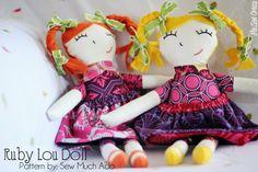 Me Sew Crazy: Ruby Lou Dolls