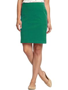 Old Navy Womens Perfect Cord Pencil Skirt