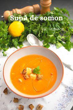 Rețeta simplă și rapidă de supă de somon cu multe legume. Cum se face supa-cremă de legume cu pește. Supa ușoară și delicioasă, plină de legume. Thai Red Curry, Ethnic Recipes