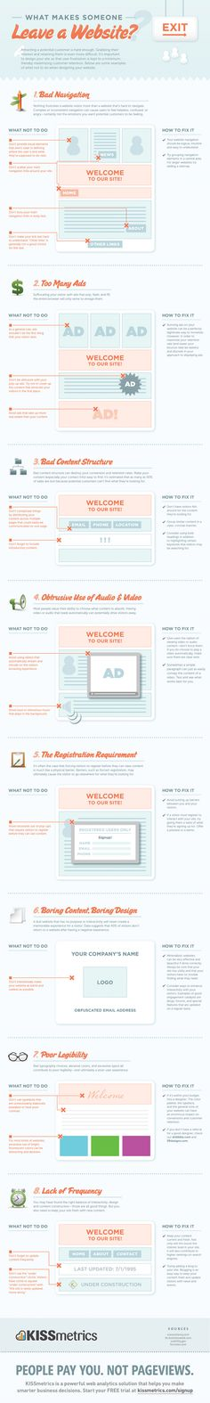What Makes Someone Leave A Website - Dont make these website mistakes