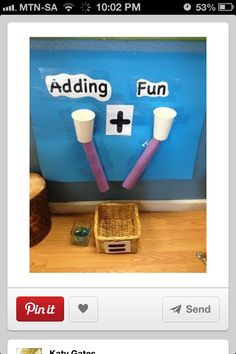 Great idea for teaching sums