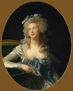 Catherine Noele Grand (née Worlée), Later Madame Talleyrand-Périgord, Princesse de Bénévent by Élisabeth Louise Vigée Lebrun (Metropolitan Museum - New York City, New York USA), circa 1783.    Born in India to Danish parents, she traveled to London and then Paris, where she became an infamous courtesan.  She would become Madame Talleyrand - no small feat!