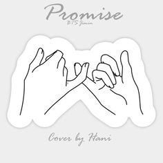 Stream BTS Jimin - Promise (약속) (Cover) by Hani by from desktop or your mobile device Bts Black And White, Black And White Stickers, Bts Tattoos, Tatoos, Kawaii Stickers, Cute Stickers, Scrapbooks, Promise Tattoo, Tumblr Stickers