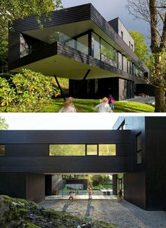 Todd Saunders of Saunders Architecture has designed a home for himself and his family in Bergen, Norway.