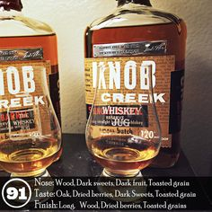 Yup, I love Knob Creek Single Barrel 1911 from Nasa Liquor. I can't even imagine what the regular Knob Creek would taste like if this was the minimum standard of what went into making each batch, but as we all know… it's not. This is instead the higher end of the spectrum and is exactly what I look for in a great bourbon. I like big woody flavors and