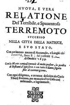 Terremoto Centro Italia, Amatrice e Accumoli già distrutte da un sisma simile nel 1639