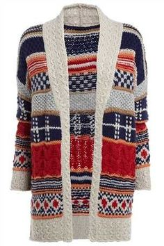 Buy Hand knit Pattern Cardigan from the Next UK online shop