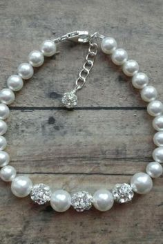 strass e pulseira de pérolas de casamento by Divonsir Borges
