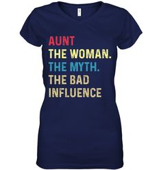 Aunt The Woman The Myth Funny Shirts Funny Mugs Funny T Shirts For Woman and Men