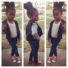 cute little black girl with swag - Google Search