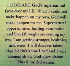 My Declaration I receive in Jesus name, AmeN 😍 Prayer Of Praise, Prayer Verses, Faith Prayer, Prayer Book, Prayers Of Encouragement, Bible Prayers, Morning Affirmations, Positive Affirmations, Wedding Bible Verses