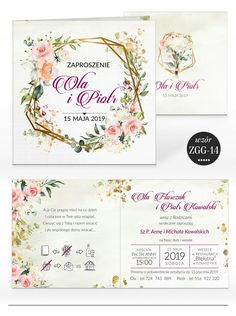 Zaproszenia ślubne RUSTYKALNE KWIATY + KOPERTA 7584587654 - Allegro.pl Christening, Wedding Inspiration, Wedding Ideas, Wedding Decorations, Place Card Holders, Flowers, Cards, Packaging, Weddings