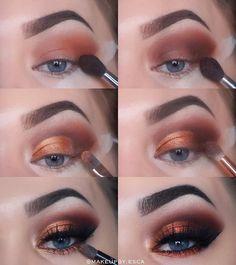 Follow @makeupby.esca for more. ______________________________________________________ Products: Brows: @anastasiabeverlyhills #dipbrow Eyes: @morphebrushes @jaclynhill #morphexjaclynhill @maccosmetics #pigment @maybelline #concealer #mascara @essence_cosmetics #eyeliner @eylureofficial @eylurefinland #gimmegimme #eyelashes @zoevacosmetics #makeupbrushes Face: @vichynordic #foundation @jeffreestarcosmetics #highlights _______________________________________________________ #makeup…