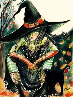 Shop Witch with an Attitude Postcard created by Creechers. Personalize it with photos & text or purchase as is! Dragons, Halloween Art, Halloween Witches, Happy Halloween, Whimsical Halloween, Halloween Stuff, Halloween Halloween, Vintage Halloween, Halloween Makeup