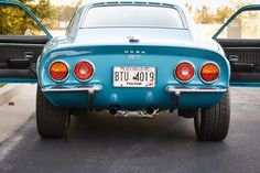 1973 Blue Opel GT Rear end