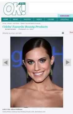 """YonKa Phyto-Contour Eye Cream is listed as one of """"Girls"""" star Allison Williams favorite products! As seen on  @OK! Magazine. Yon-Ka Phyto-Contour ist eine abschwellende, erfrischende und festigende Augencreme mit Rosmarin. Auch als Augenmaske zu verwenden. Besonders empfohlen bei Augenschatten und Schwellungen."""