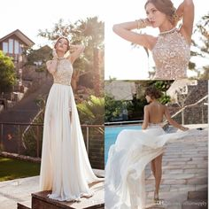 097a758792d 2018 Spring Summer Bohemian Wedding Dresses Sexy Mermaid Spaghetti Straps  Floor Length Backless Lace Bridal Gowns Wedding Dress Tea Length Wedding  Dresses ...